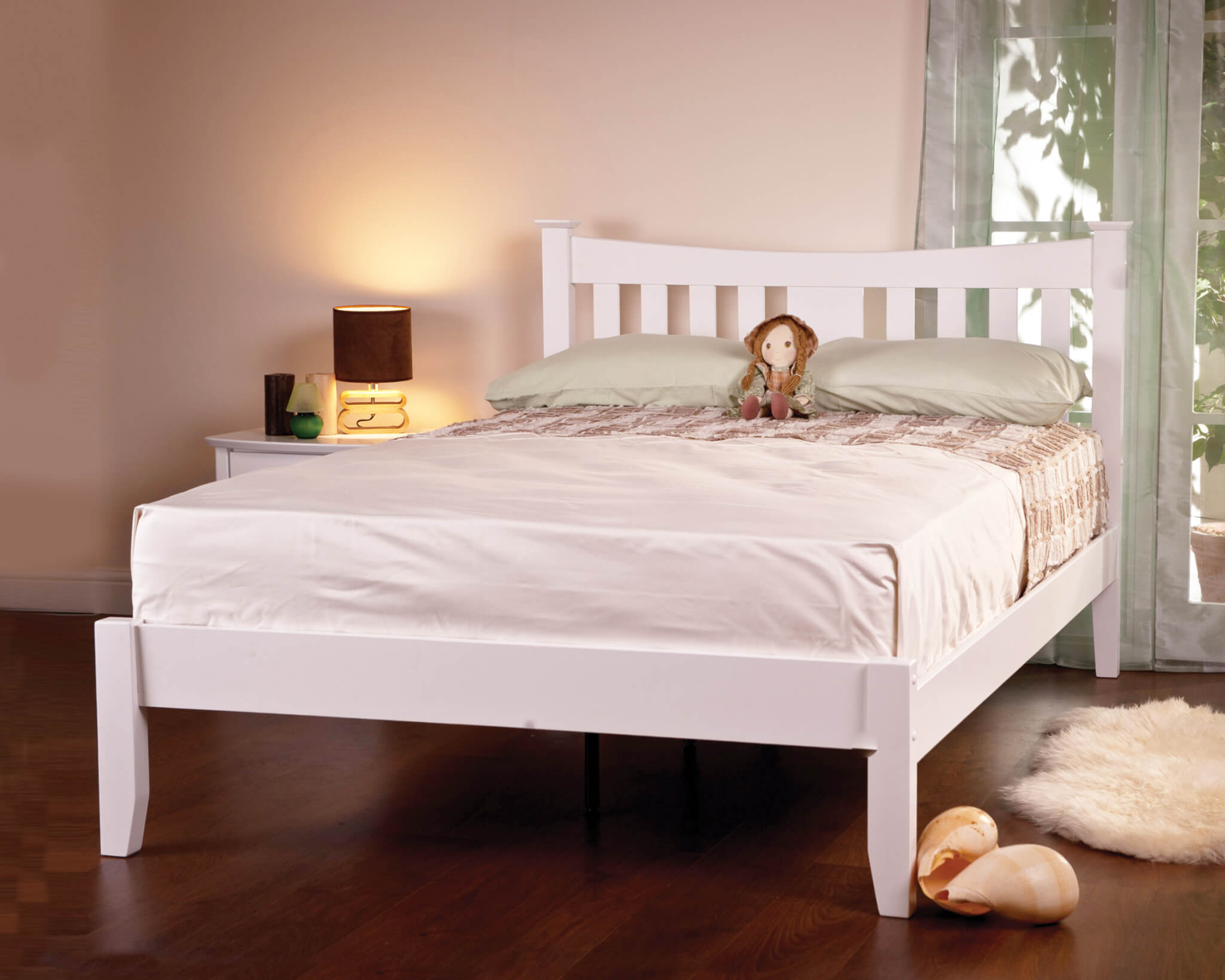 Bed Frames Home Kitchen Beds Frames Bases Wido White Wooden Double Bed Frame Noramina Ch