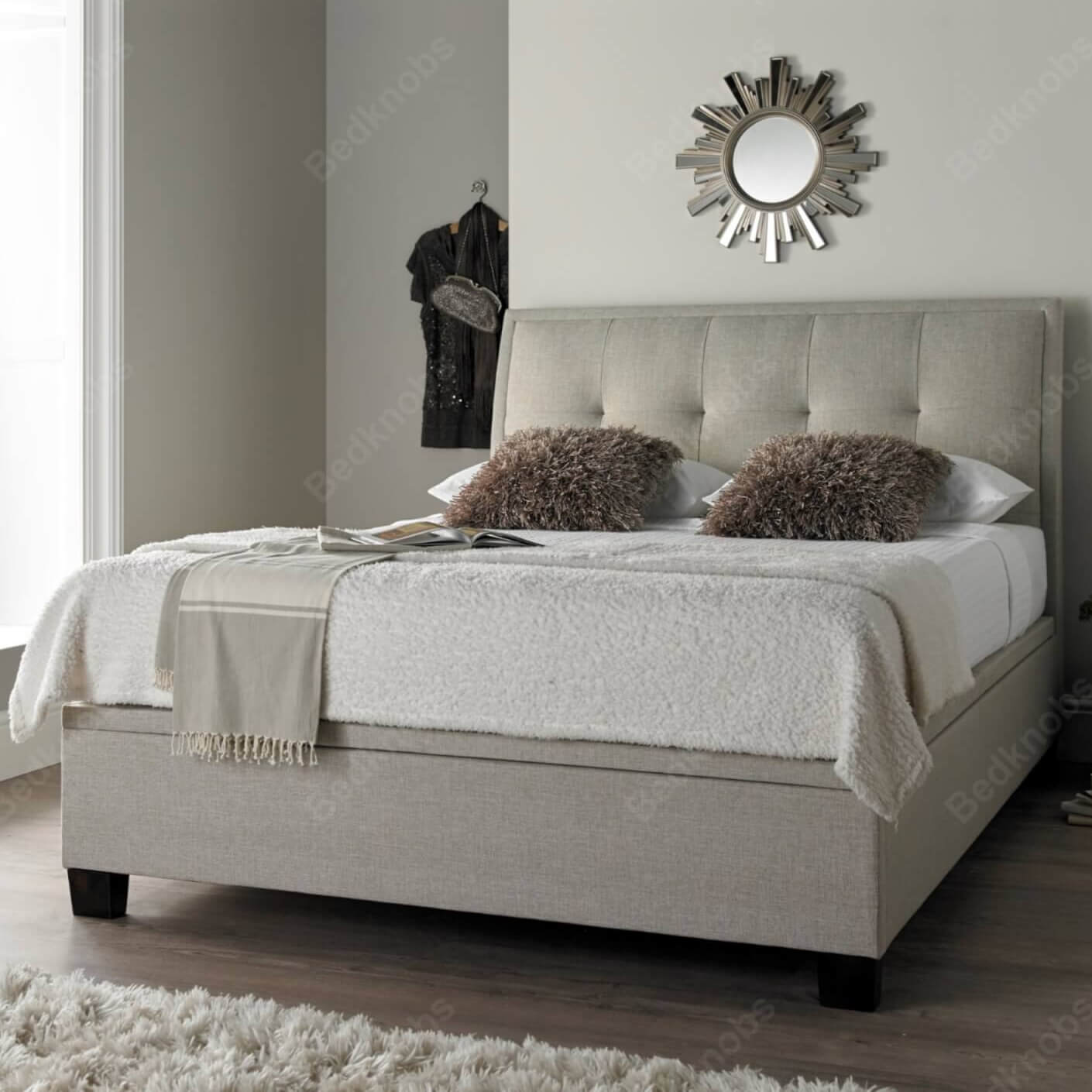 Picture of: Noble Ottoman Bed Frame Bedknobs