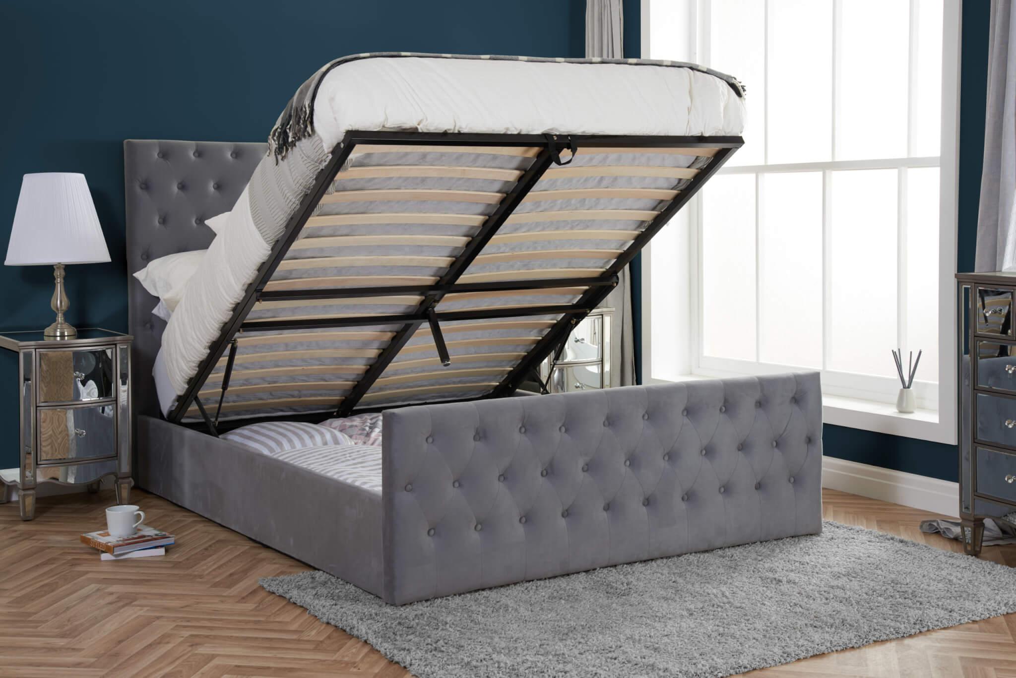 Mercury Ottoman Bed Frame Bedknobs