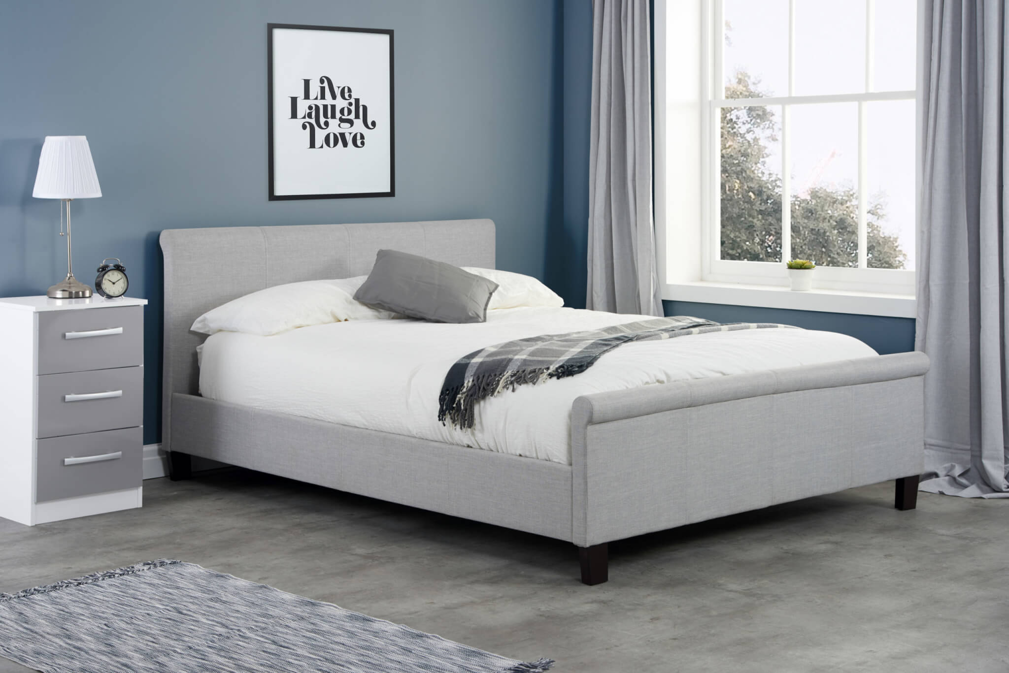 Saturn Fabric Bed Frame Bedknobs
